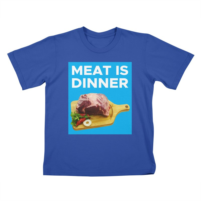 Meat Is Dinner Kids T-Shirt by The Rake & Herald Online Clag Emporium