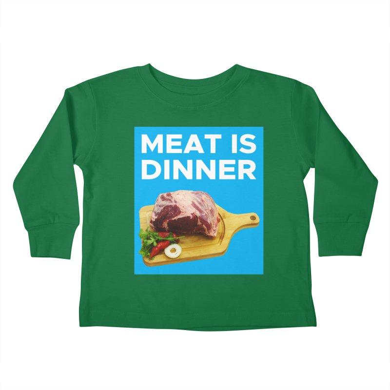 Meat Is Dinner Kids Toddler Longsleeve T-Shirt by The Rake & Herald Online Clag Emporium