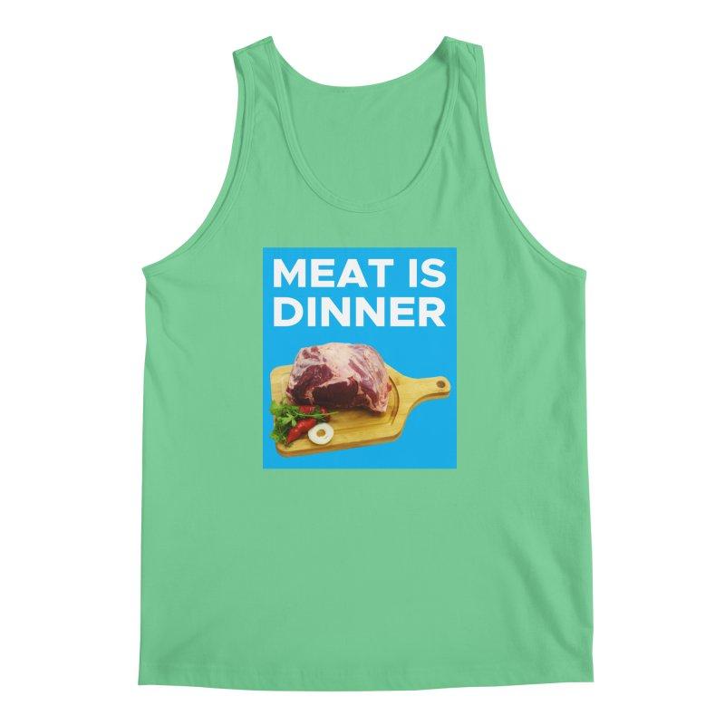 Meat Is Dinner Men's Tank by The Rake & Herald Online Clag Emporium