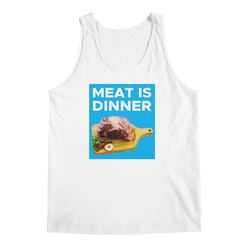 Meat Is Dinner Men's Regular Tank by The Rake & Herald Online Clag Emporium