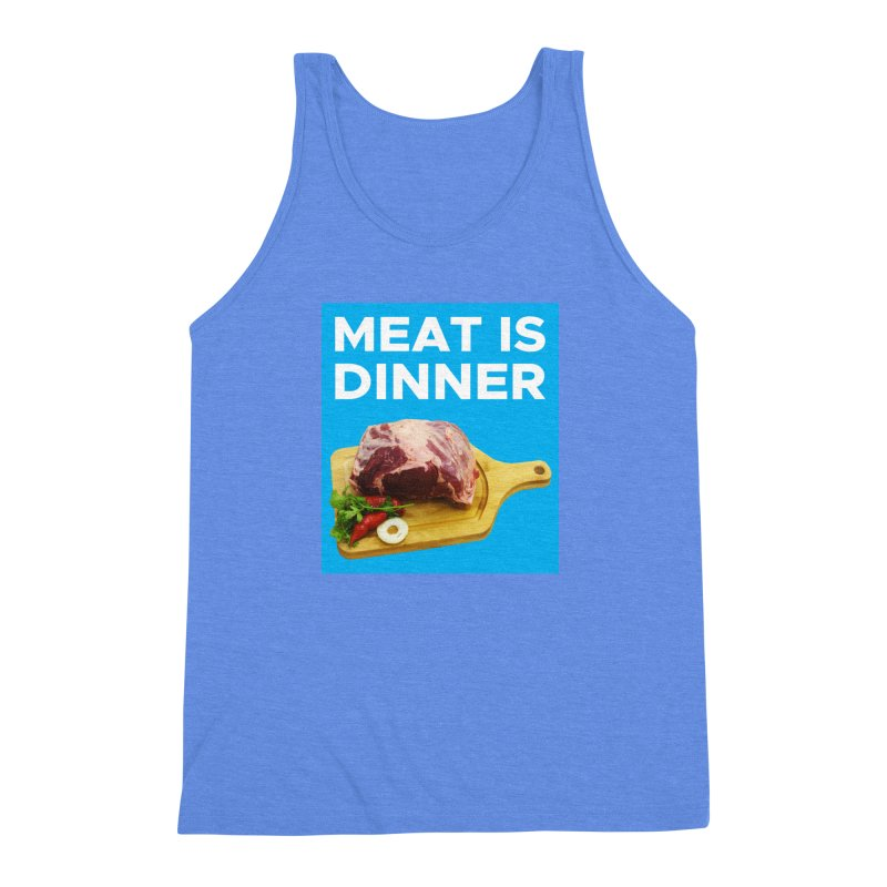 Meat Is Dinner Men's Triblend Tank by The Rake & Herald Online Clag Emporium