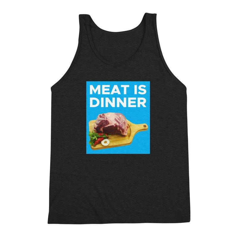 Meat Is Dinner Men's Triblend Tank by The Rake & Herald Online Clag Emporium