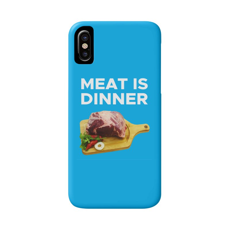 Meat Is Dinner Accessories Phone Case by The Rake & Herald Online Clag Emporium