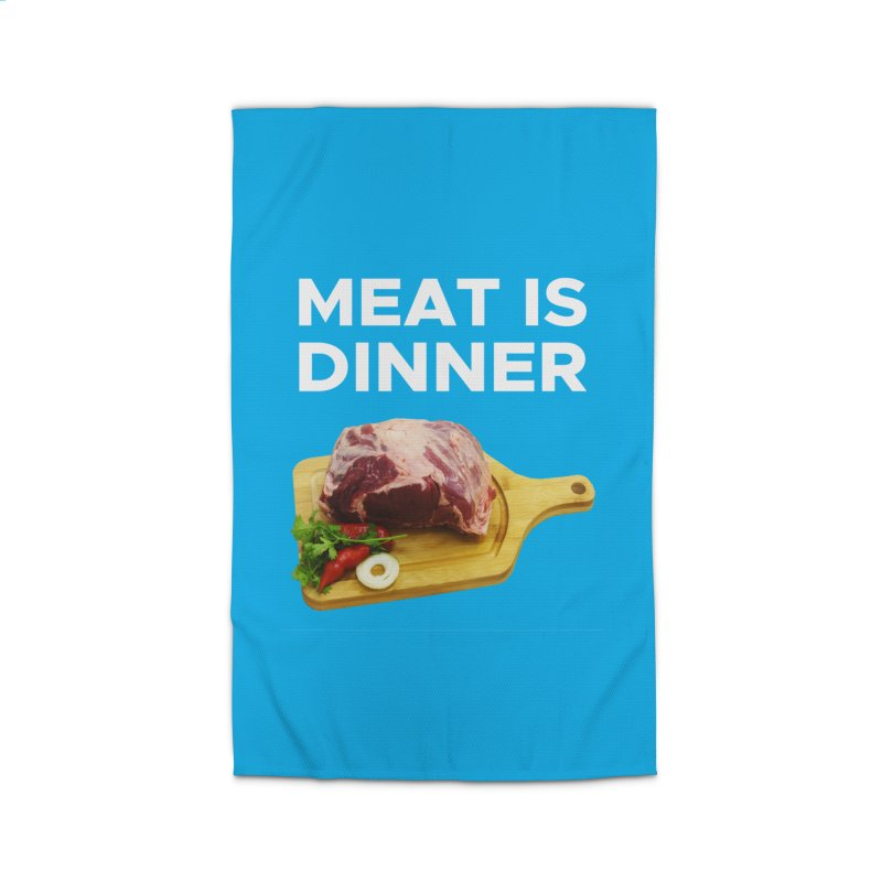 Meat Is Dinner Home Rug by The Rake & Herald Online Clag Emporium