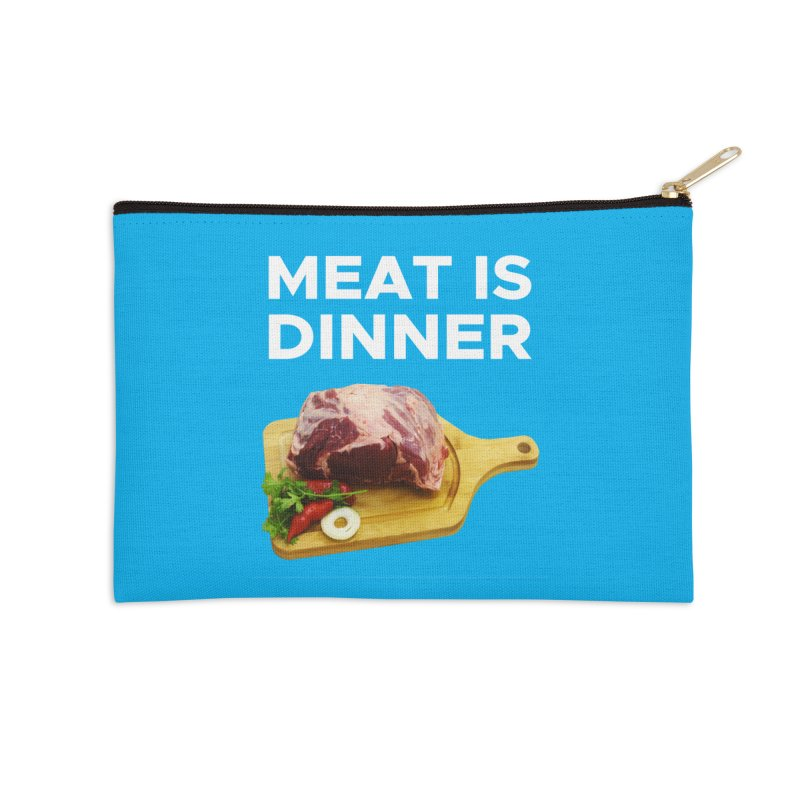 Meat Is Dinner Accessories Zip Pouch by The Rake & Herald Online Clag Emporium