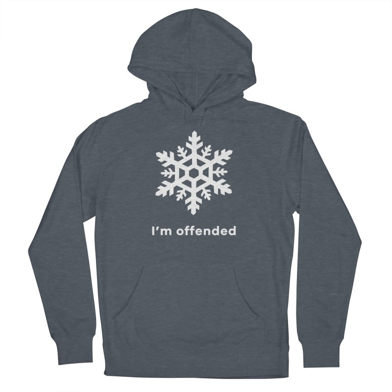 Snowflake Women's French Terry Pullover Hoody by The Rake & Herald Online Clag Emporium