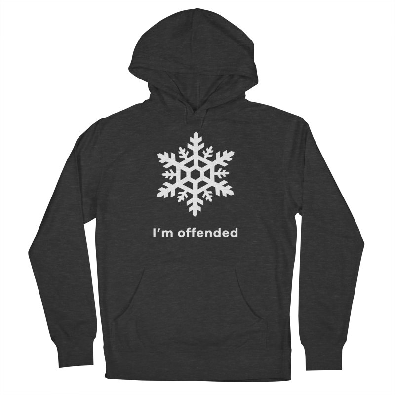 Snowflake Men's French Terry Pullover Hoody by The Rake & Herald Online Clag Emporium