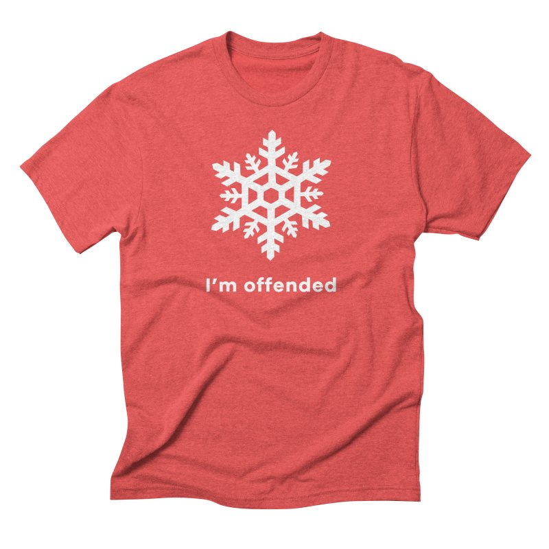 Snowflake Men's Triblend T-Shirt by The Rake & Herald Online Clag Emporium