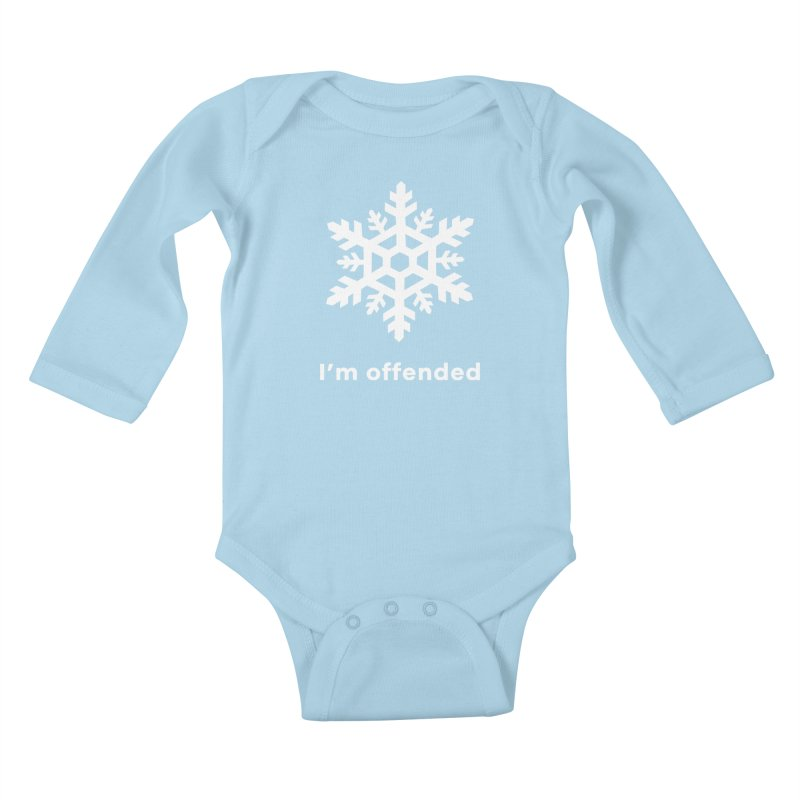 Snowflake Kids Baby Longsleeve Bodysuit by The Rake & Herald Online Clag Emporium