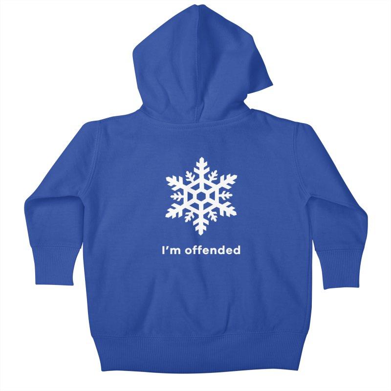 Snowflake Kids Baby Zip-Up Hoody by The Rake & Herald Online Clag Emporium