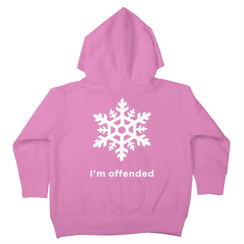 Snowflake Kids Toddler Zip-Up Hoody by The Rake & Herald Online Clag Emporium