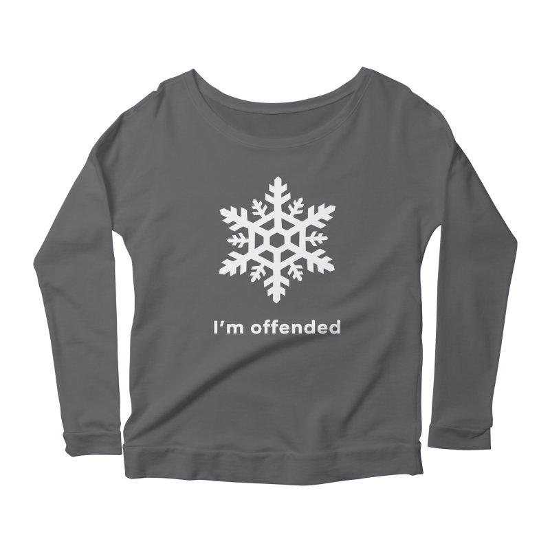 Snowflake Women's Scoop Neck Longsleeve T-Shirt by The Rake & Herald Online Clag Emporium