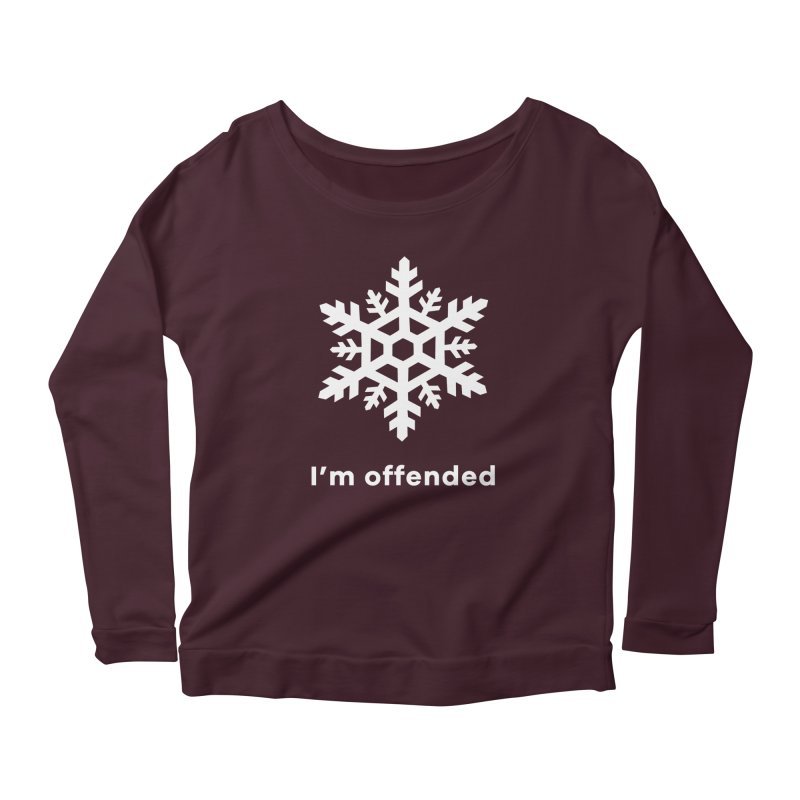 Snowflake Women's Scoop Neck Longsleeve T-Shirt by The Rake & Herald Online Clag Emporium