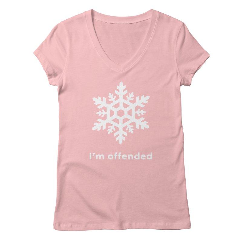 Snowflake Women's V-Neck by The Rake & Herald Online Clag Emporium