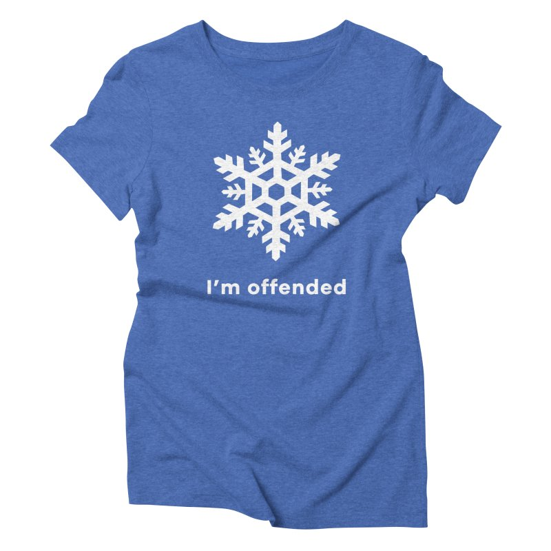 Snowflake Women's Triblend T-Shirt by The Rake & Herald Online Clag Emporium