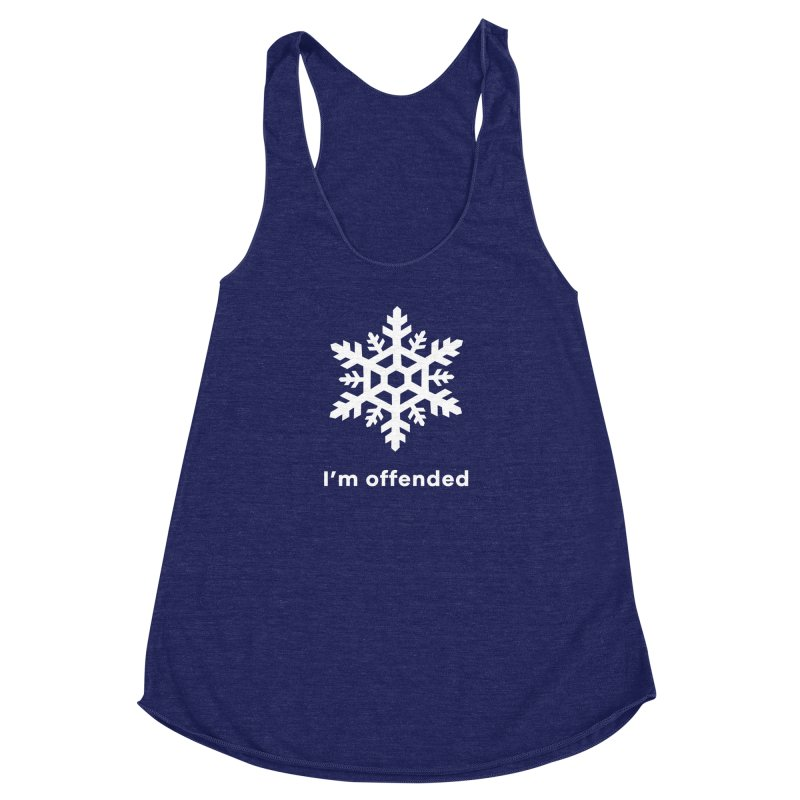 Snowflake Women's Racerback Triblend Tank by The Rake & Herald Online Clag Emporium