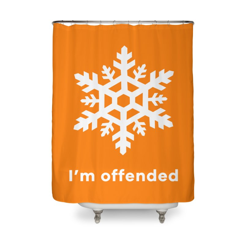 Snowflake Home Shower Curtain by The Rake & Herald Online Clag Emporium