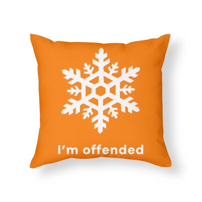 Snowflake Home Throw Pillow by The Rake & Herald Online Clag Emporium
