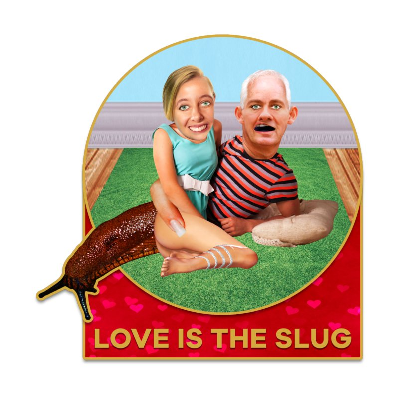 Love Is the Slug Home Shower Curtain by The Rake & Herald Online Clag Emporium
