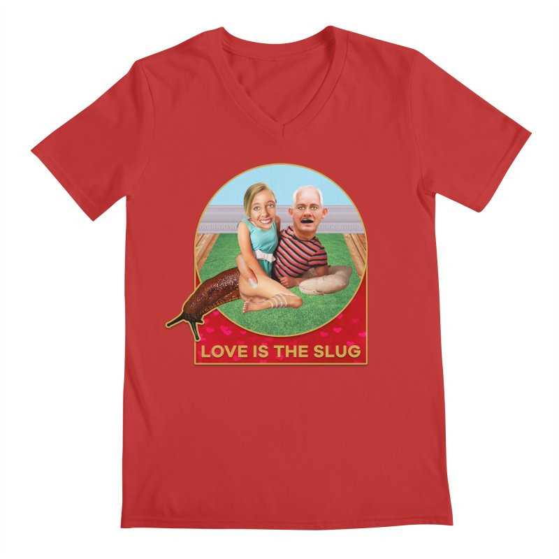 Love Is the Slug Men's Regular V-Neck by The Rake & Herald Online Clag Emporium