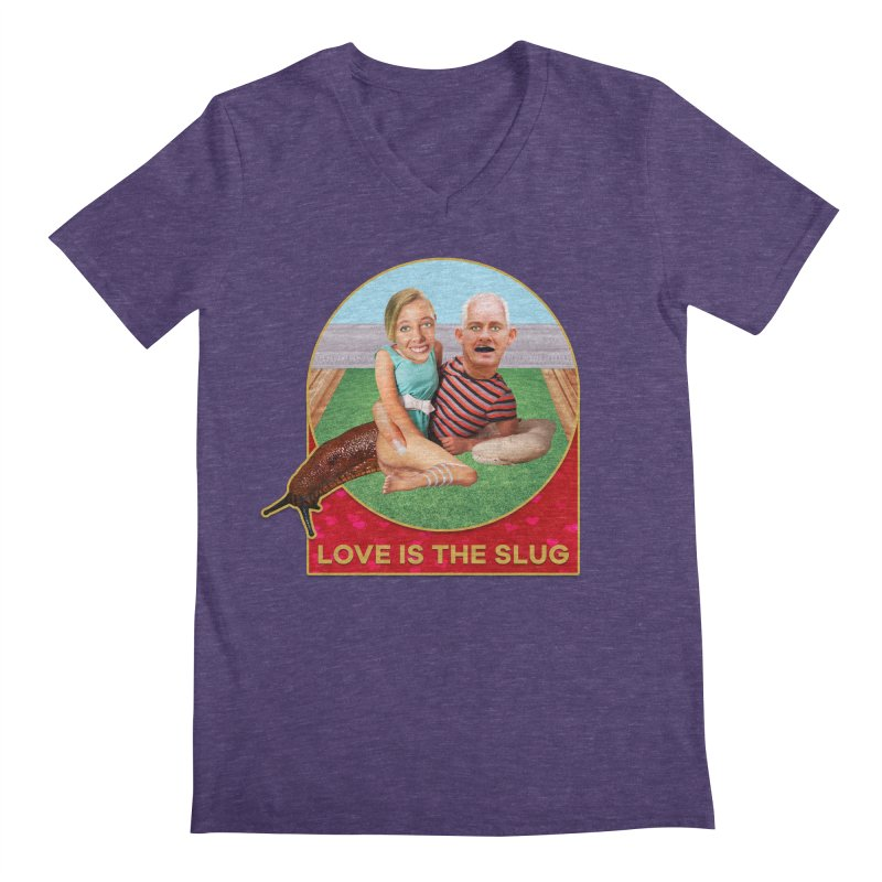Love Is the Slug Men's V-Neck by The Rake & Herald Online Clag Emporium