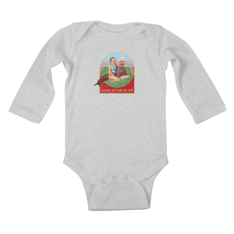 Love Is the Slug Kids Baby Longsleeve Bodysuit by The Rake & Herald Online Clag Emporium
