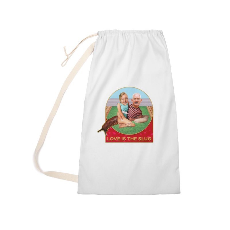 Love Is the Slug Accessories Laundry Bag Bag by The Rake & Herald Online Clag Emporium