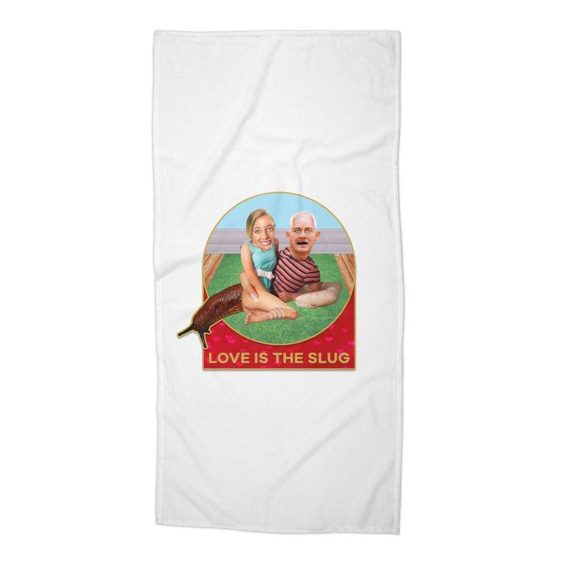 Love Is the Slug Accessories Beach Towel by The Rake & Herald Online Clag Emporium