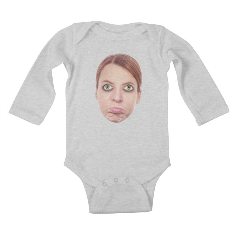 Kate Middlefinger Kids Baby Longsleeve Bodysuit by The Rake & Herald Online Clag Emporium