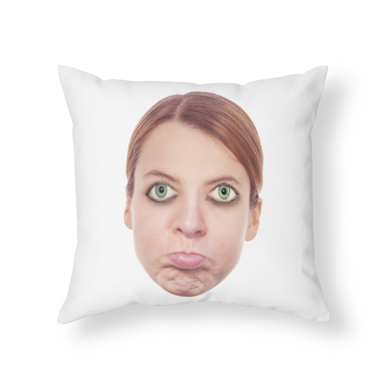 Kate Middlefinger Home Throw Pillow by The Rake & Herald Online Clag Emporium