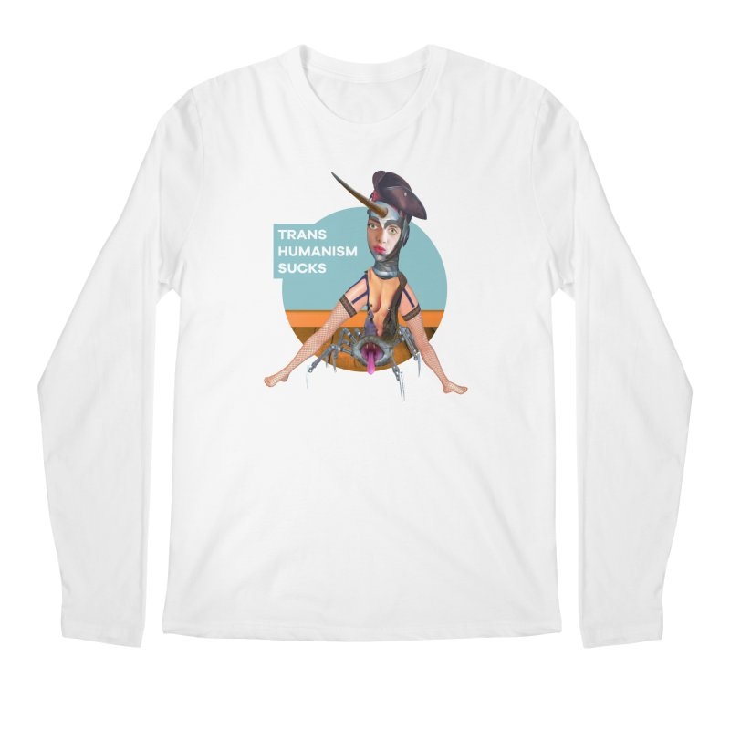 Transhumanism Sucks Men's Longsleeve T-Shirt by The Rake & Herald Online Clag Emporium
