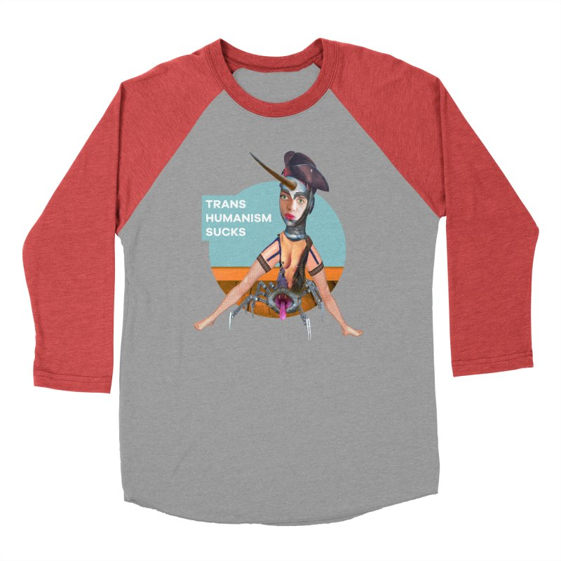 Transhumanism Sucks Women's Baseball Triblend Longsleeve T-Shirt by The Rake & Herald Online Clag Emporium