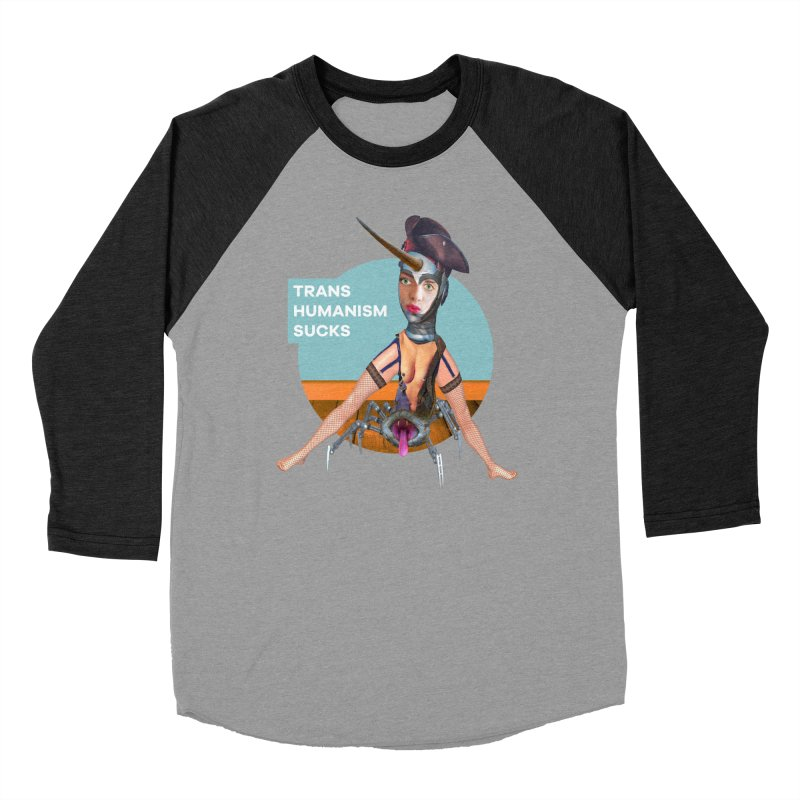 Transhumanism Sucks Women's Baseball Triblend T-Shirt by The Rake & Herald Online Clag Emporium