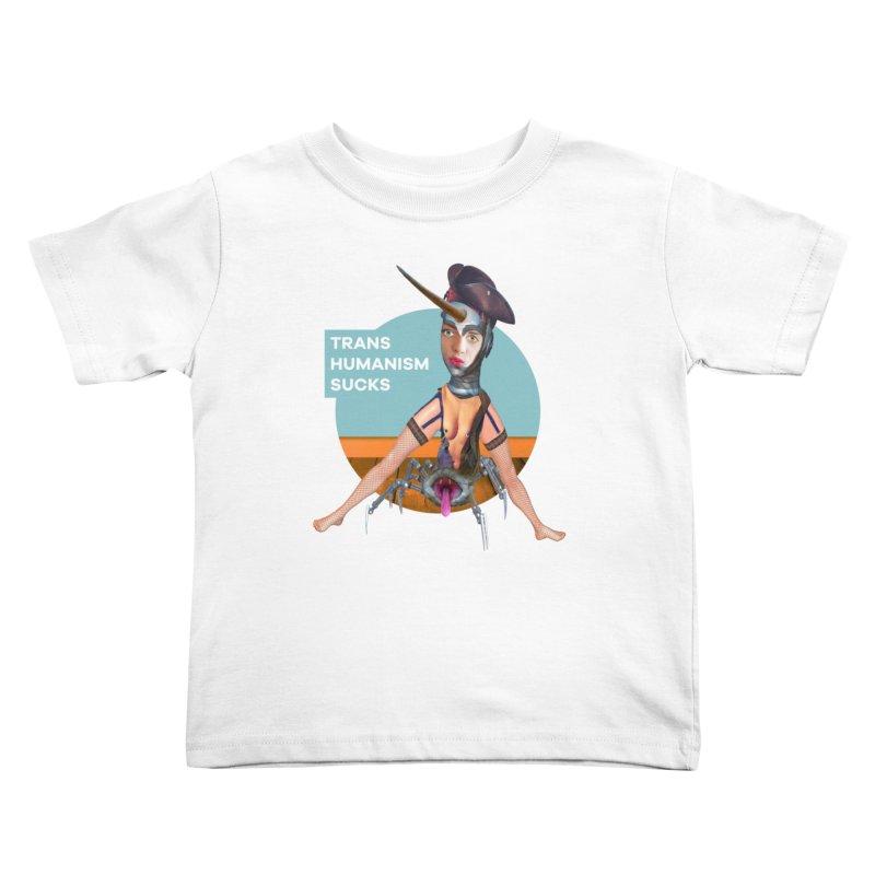 Transhumanism Sucks Kids Toddler T-Shirt by The Rake & Herald Online Clag Emporium