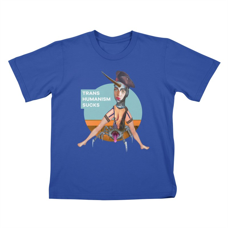 Transhumanism Sucks Kids T-Shirt by The Rake & Herald Online Clag Emporium