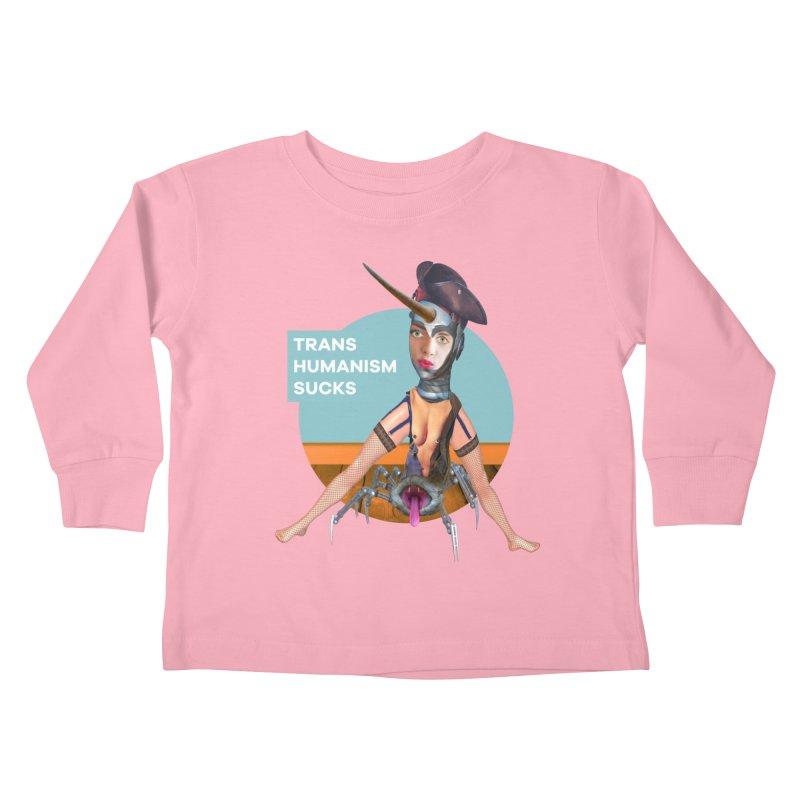 Transhumanism Sucks Kids Toddler Longsleeve T-Shirt by The Rake & Herald Online Clag Emporium