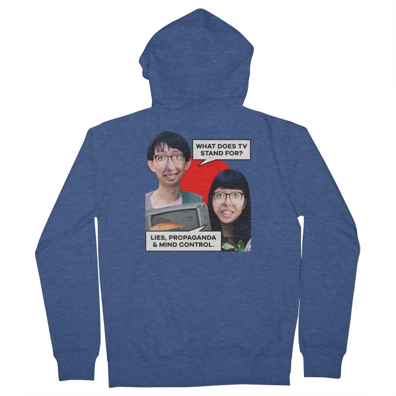 What Does TV Stand For? Women's French Terry Zip-Up Hoody by The Rake & Herald Online Clag Emporium