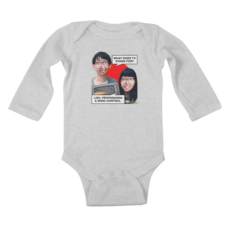 What Does TV Stand For? Kids Baby Longsleeve Bodysuit by The Rake & Herald Online Clag Emporium