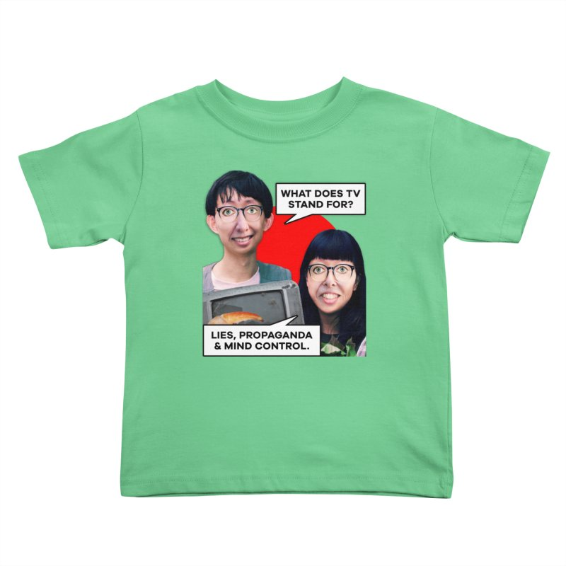What Does TV Stand For? Kids Toddler T-Shirt by The Rake & Herald Online Clag Emporium