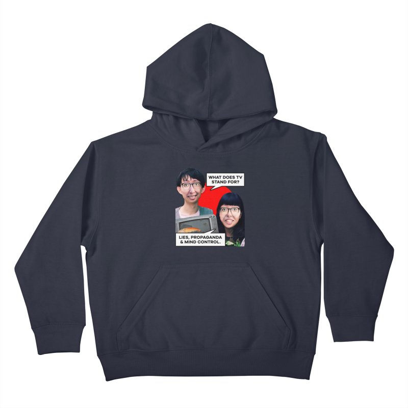 What Does TV Stand For? Kids Pullover Hoody by The Rake & Herald Online Clag Emporium