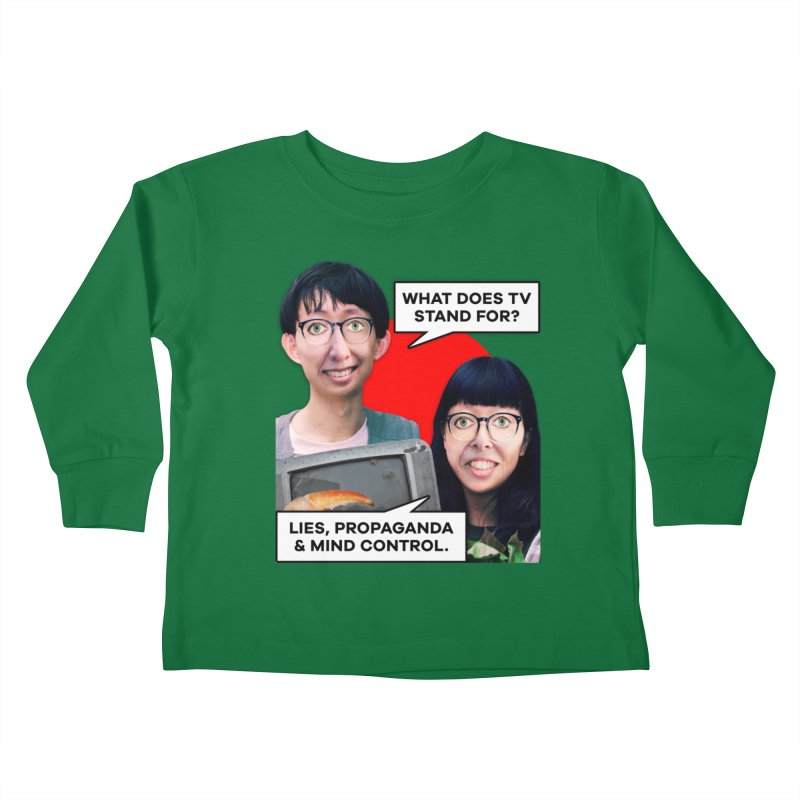 What Does TV Stand For? Kids Toddler Longsleeve T-Shirt by The Rake & Herald Online Clag Emporium