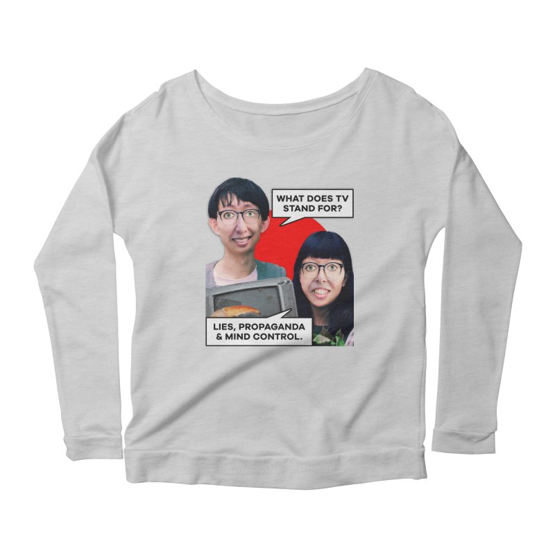 What Does TV Stand For? Women's Scoop Neck Longsleeve T-Shirt by The Rake & Herald Online Clag Emporium