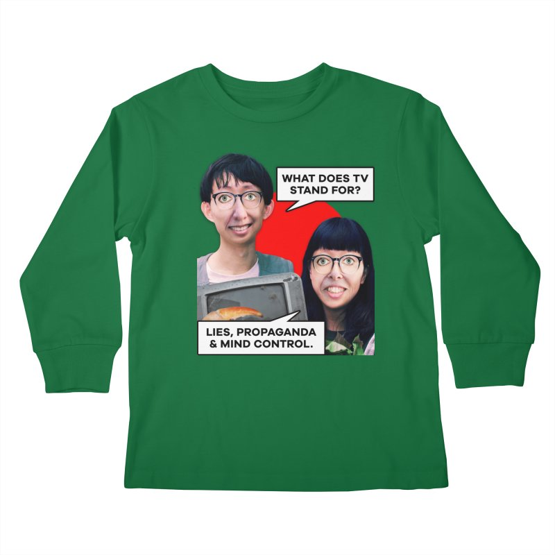 What Does TV Stand For? Kids Longsleeve T-Shirt by The Rake & Herald Online Clag Emporium