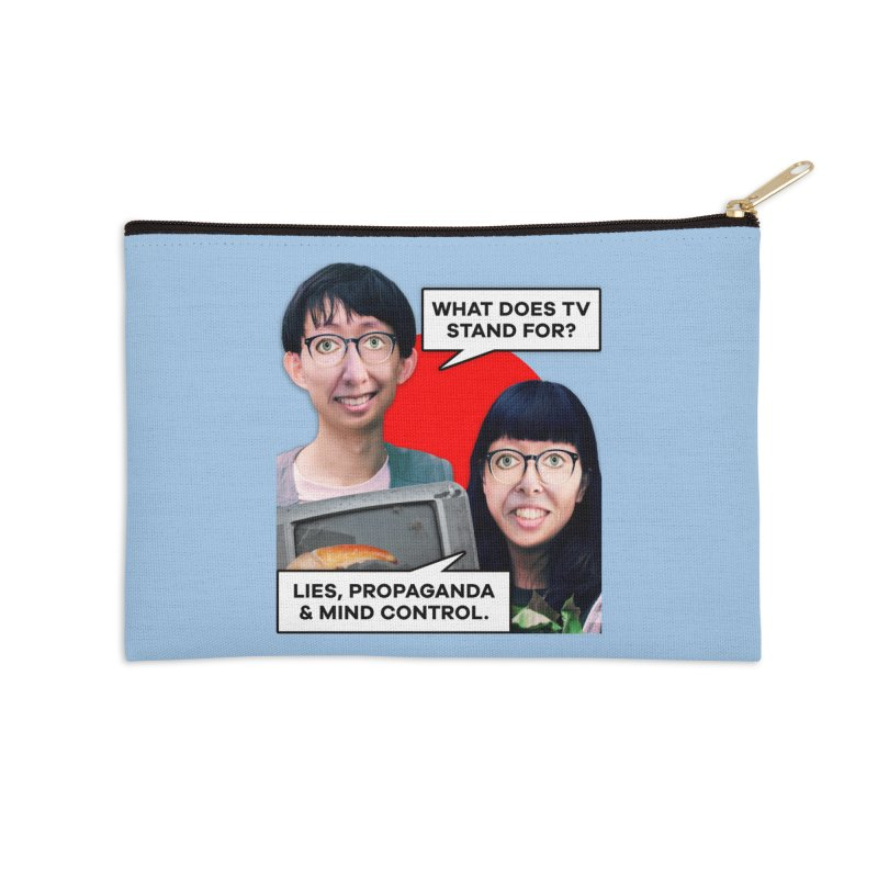 What Does TV Stand For? Accessories Zip Pouch by The Rake & Herald Online Clag Emporium