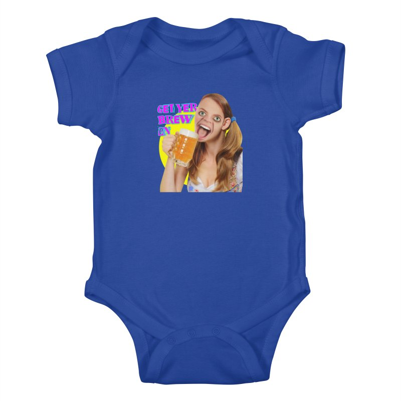 Get Yer Brew On Kids Baby Bodysuit by The Rake & Herald Online Clag Emporium