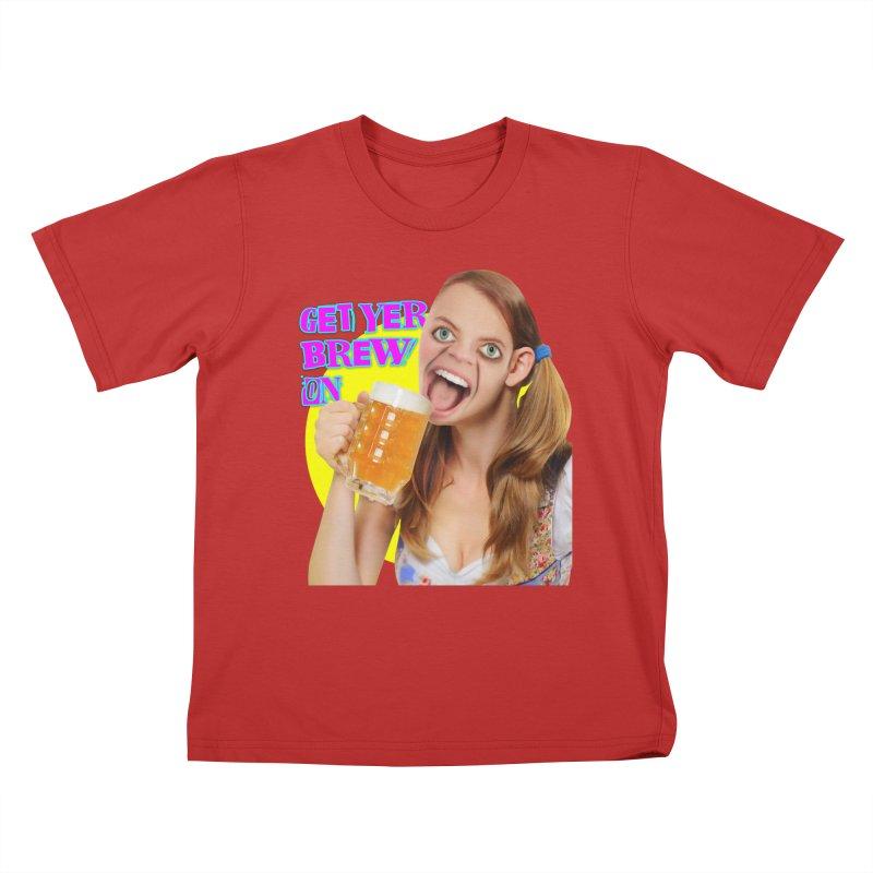 Get Yer Brew On Kids T-Shirt by The Rake & Herald Online Clag Emporium
