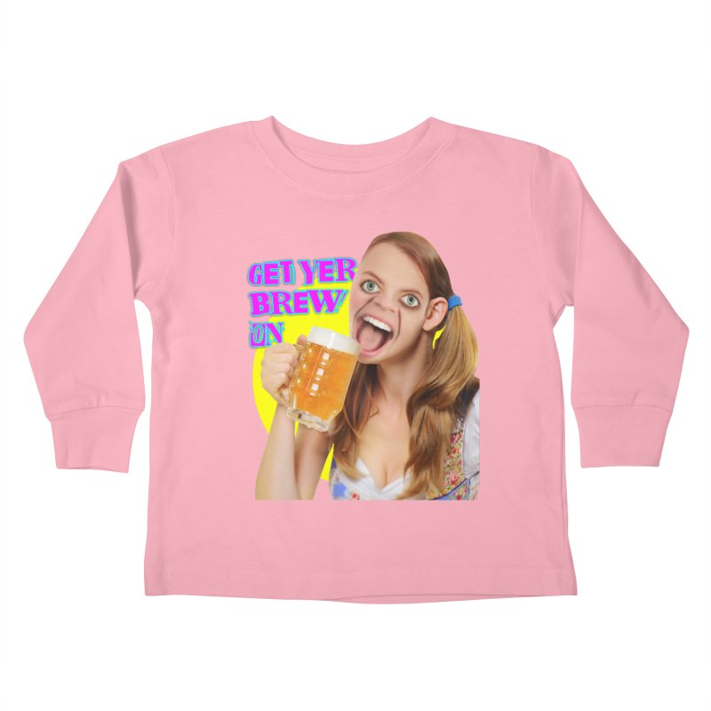 Get Yer Brew On Kids Toddler Longsleeve T-Shirt by The Rake & Herald Online Clag Emporium