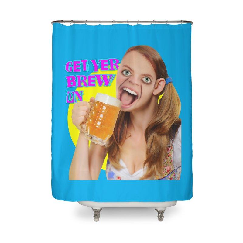 Get Yer Brew On Home Shower Curtain by The Rake & Herald Online Clag Emporium