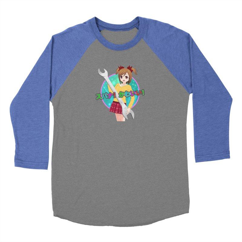 Spanner! Kawaii! Men's Baseball Triblend Longsleeve T-Shirt by The Rake & Herald Online Clag Emporium