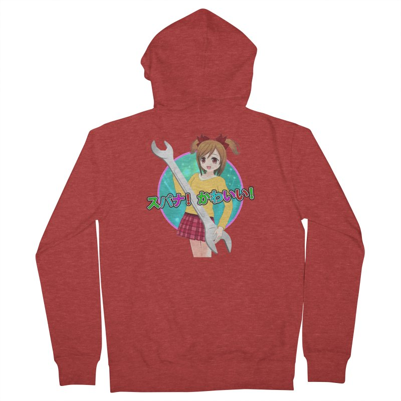 Spanner! Kawaii! Men's French Terry Zip-Up Hoody by The Rake & Herald Online Clag Emporium